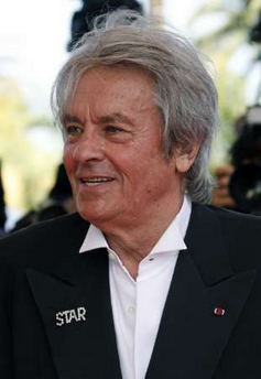 Alain Delon in wing collar