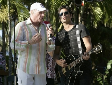 Beach Boys' Mike Love in linen