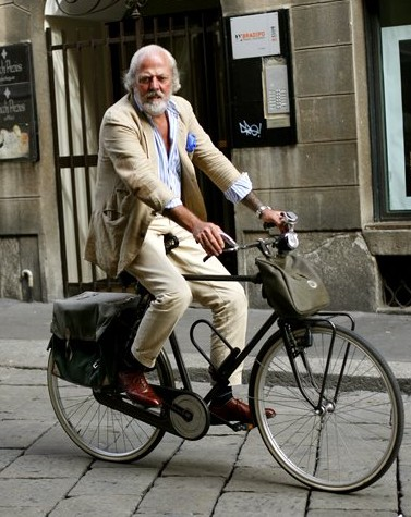 sprezzatura on a bicycle