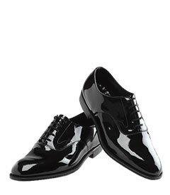 Brooks Brothers patent lace-up shoes