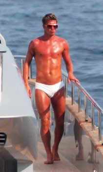 David Beckham in Speedo