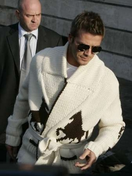 David Beckham horsey cardigan