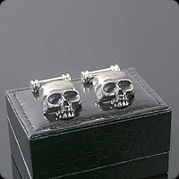 Jeffery West death's head cufflinks