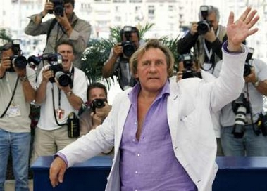 Depardieu as Statue of Liberty