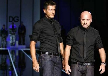 Dolce and Gabbana's low-slung pants