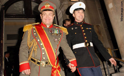 Elton John in uniform