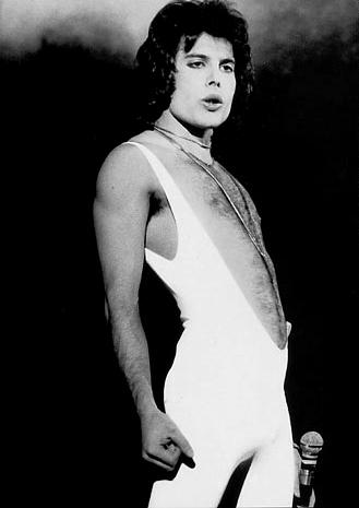 Freddie Mercury in unitard