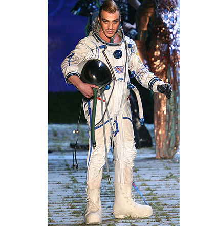 Galliano in spacesuit