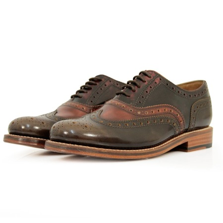 Stanley Brown Leather Brogue from Grenson