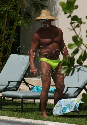 Hulk Hogan in his creepy thong.