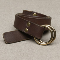J Crew brass O-ring belt