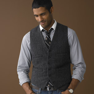 J Crew herringbone vest