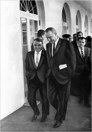 Jack Valenti with LBJ