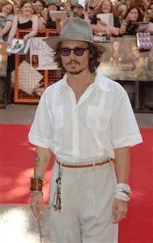 Johnny Depp as James Joyce