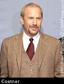 Kevin Costner in three-piece suit