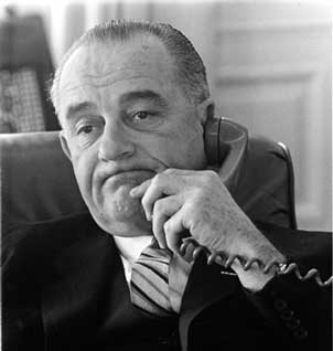 LBJ on the phone