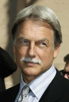 Mark Harmon in 'stache