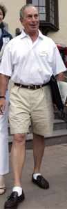 Mayor Bloomberg in shorts