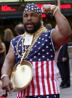 Mr T with gold plate