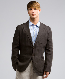 Paul Smith linen patch pocket jacket