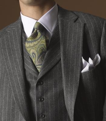 Paul Stuart flannel suit