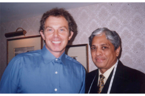 Sam's Tailor with Tony Blair