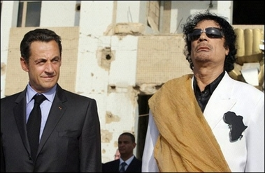 Sarkozy and Kadhafi