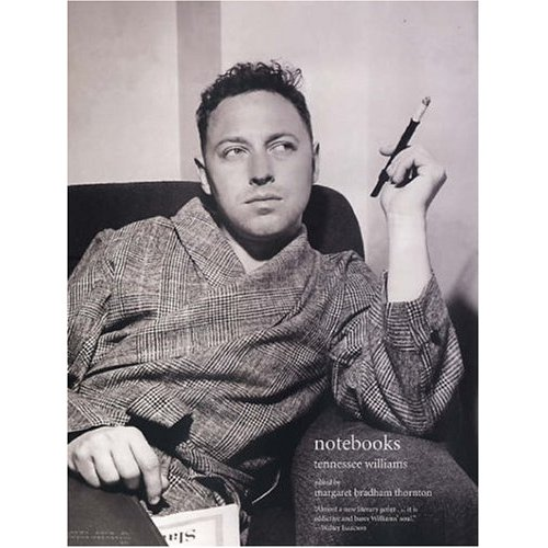 Tennessee Williams in dressing gown