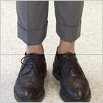 Thom Browne's ankles