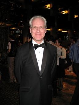 Tim Gunn in shawl lapel tuxedo