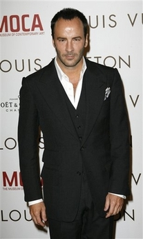 Tom Ford in three-piece suit