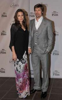 Brad Pitt in three-piece suit