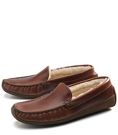Brooks Brothers shearling slippers