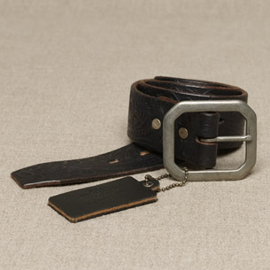 J Crew hand-tooled belt