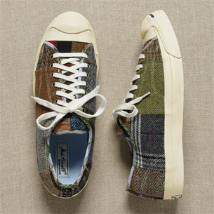 J. Crew wool patchwork sneakers