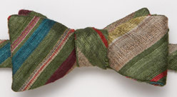 J Press raw silk bow tie