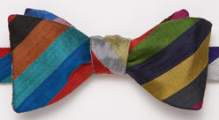 J Press raw silk bow tie number 2