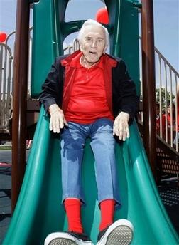 Kirk Douglas on slide