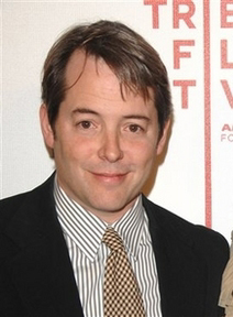 Matthew Broderick in clashing patterns
