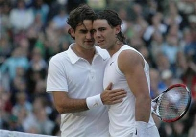 Nadal and Feder at Wimbledon