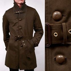 Nom de Guerre high collar coat