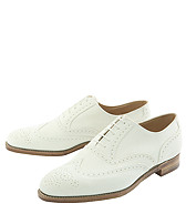 Peal & Co. white buck wingtips