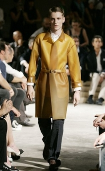 Prada latex trench coat
