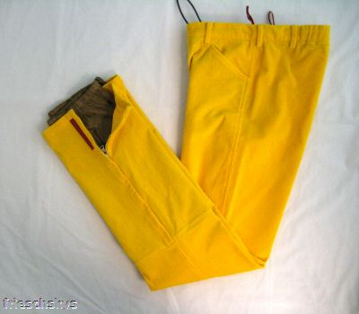 Prada yellow corduroy ski pants