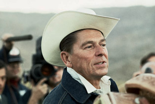 Ronald Reagan in cowboy hat