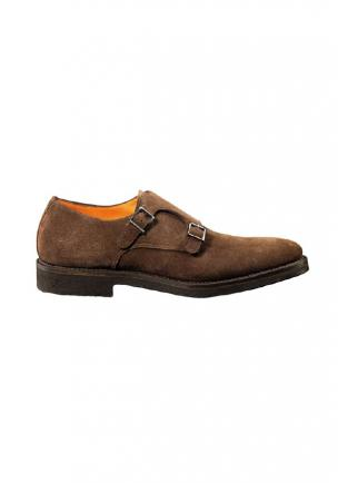 Santoni Suede Double Monkstrap