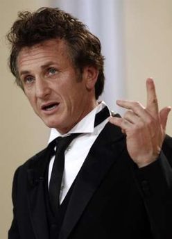 Sean Penn with pompadour