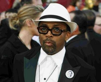 Spike Lee in white hat