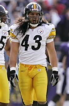 Steeler with long hair