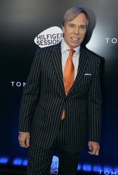 Tommy Hilfiger in pinstripes